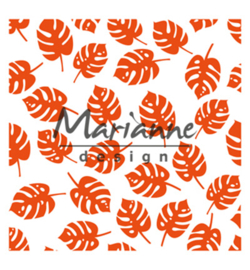 Marianne D Embossing 3D Design Folder  DF3449 - Tropical leaves