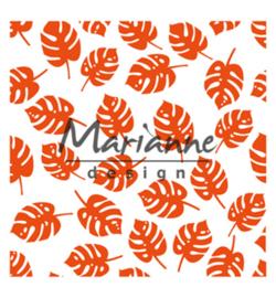 Marianne D Embossing 3D Design Folder  DF3449 - Tropical leaves
