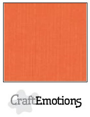 CraftEmotions linnenkarton - oranje LHC-23 A4 250gr