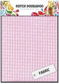 Dutch Doobadoo - Fabric Art - Textile Pink Check