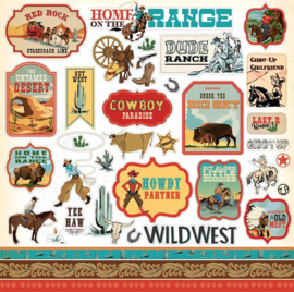 Carta Bella Cowboy Country 12x12 Inch Element Sticker (CBCC77014)