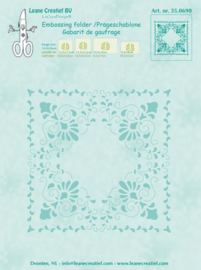 LeCrea - Curlicue Embossing folder 35.0690
