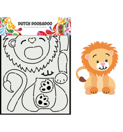 Dutch Doobadoo - 470.713.881 - Card Art Built up leeuw