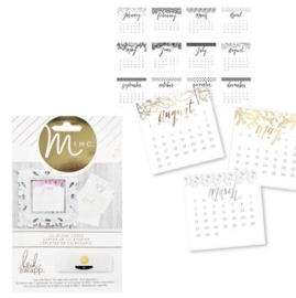 Minc calendar cards x12 (370218)