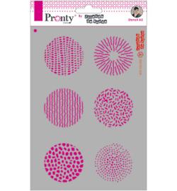 Pronty Mask stencil - 470.770.002 - Grunge Circles - Jolanda de Ronde