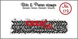 Crealies Clearstamp Bits & Pieces grunge zigzag (langwerpig) CLBP173 21 x 75mm