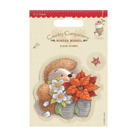 75 x 75mm Clear Stamps - Winter Wishes - Poinsettia