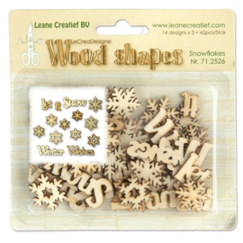 Wood shapes Snowflakes