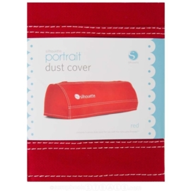 Silhouette Portrait Dust Cover Red