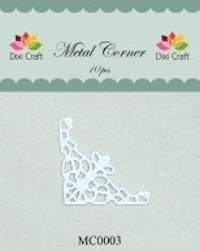 Dixi Craft Metal Corner 35x35 mm wit - MC0003