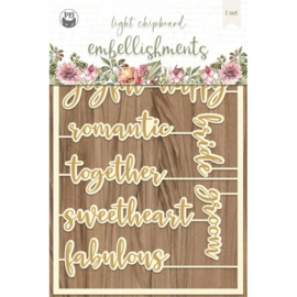 Piatek13 - Chipboard embellishments Always and forever 07 P13-ALW-54