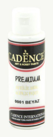 Cadence Premium acrylverf (semi mat) Wit 01 003 0001 0070 70 ml