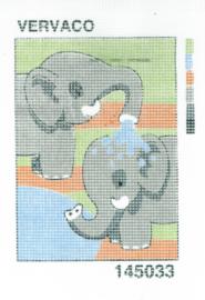 Borduurpakket olifanten voor kinderen Vervaco 145033