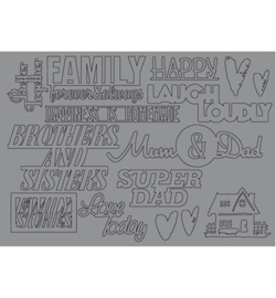 Pronty - Raffzz - Grey Chipboard Family Stories