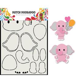 Dutch Doobadoo - 470.713.795 - Card Art Olifant