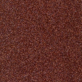 Glitterpapier dun bruin - per vel