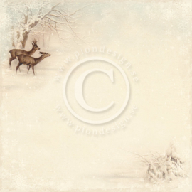Pion Design - Winter in Swedish Lapland - Deer - 12x12