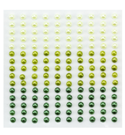 Nellie`s Choice - APS402 - Adhesive half pearls 3 tinten groen