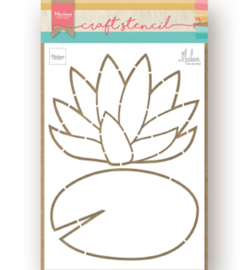 Marianne D PS8072 - Craft Stencil - Waterlily by Marleen