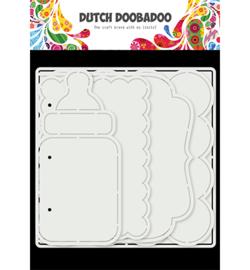 Dutch Doobadoo - 470.784.021 - Card Art Baby album 5 set