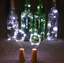 Wijnflesstop 2 M 20 Leds - Warm Wit (excl. batterijen)