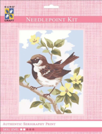 Eurocraft NEEDLEPOINT KIT 14x18cm - 3315K - Brown Wren