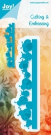 Cutting & Embossing stencil - rand lieveheersbeestjes
