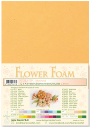 LeCrea - 10 Flower Foam sheets A4 0,8mm mosterd 25.4179 0.8mm