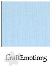 CraftEmotions linnenkarton azuurblauw 30,5x30,5cm