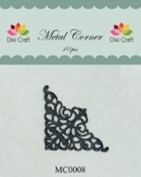 Dixi Craft Metal Corner 35x35 mm zwart - MC0008