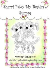 My-Besties Wee Winged Ones Best Friends Clear Rubber Stamp