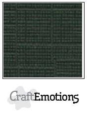 CraftEmotions linnenkarton Olijfgroen 30,5x30,5cm