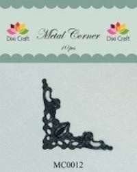 Dixi Craft Metal Corner 42x42 mm zwart - MC0012