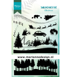 Marianne D Stempel CS1040 - Silhouette Christmas