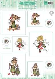 Card Topper Snoesjes - Merry Christmas - 3DHM0063