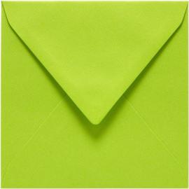 Papicolor Envelop vierk. 14cm appelgroen 105gr-CV 6 st 303967 - 140x140 mm