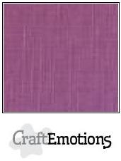 CraftEmotions linnenkarton - purper LHC-13 A4 250gr