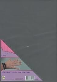 Nellie`s Choice - Armband / Bracelet - Imitatieleer A4 - grijs