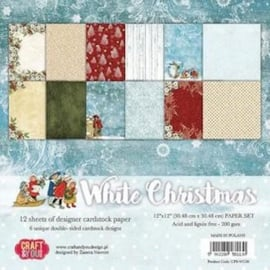 Craft&You white Chritmas BIG Paper Set 12x12 12 vel CPS-WC30