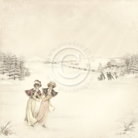 Pion Design - Days of winter - Lilly and Siri - 12x12