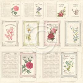 Pion Design - Vintage garden - Seed packets - 12x12