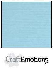 CraftEmotions linnenkarton lichtblauw 30,5x30,5cm