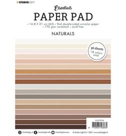 Studio Light - SL-ES-PSL-ES-PP06 - SL Paper Pad Double sided Unicolor Naturals Essentials nr.6