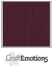 CraftEmotions linnenkarton burgundy 27x13,5cm 250gr