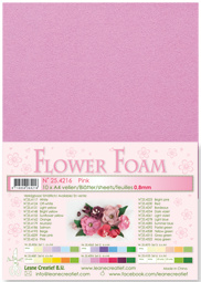 LeCrea - 10 Flower Foam sheets A4 lichtroze 25.4209 0.8mm