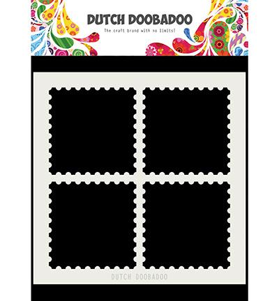 Dutch Doobadoo - 470715616 - Mask Art Postal Stamps