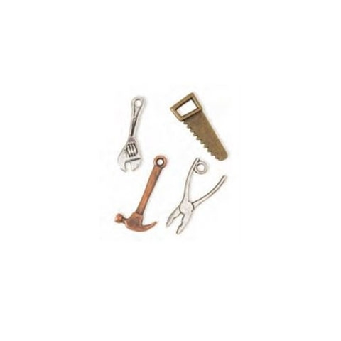 Steampunk Charms: Assorted Carpenter Tool Charm Pack