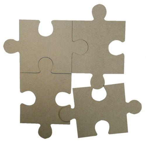 MDF puzzelstukken (4st)