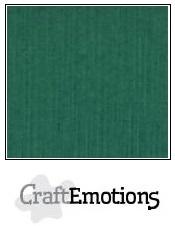 CraftEmotions linnenkarton kerstgroen 30,5x30,5cm
