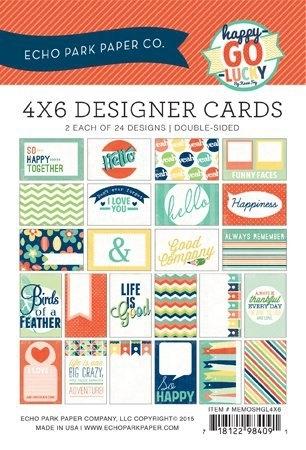 Echo Park 4x6 Inch Happy-Go-Lucky Designer Cards (MEMOSHGL4x6)